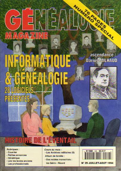 Généalogie Magazine n° 129 - juillet-août 1994