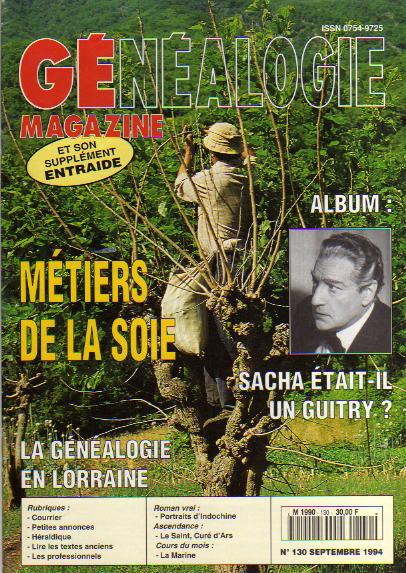 Généalogie Magazine n° 130 – septembre 1994