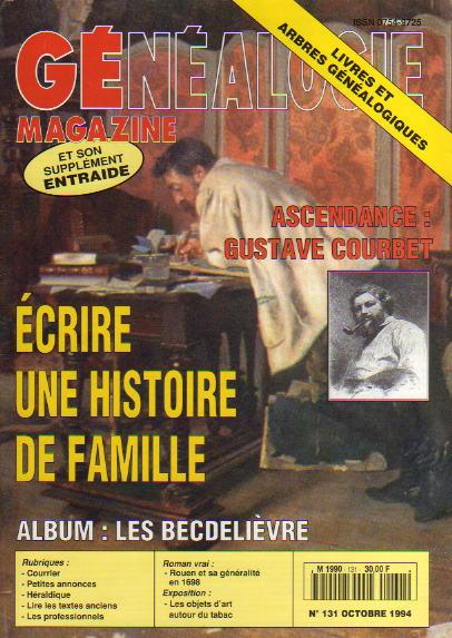 Généalogie Magazine n° 131 – octobre 1994