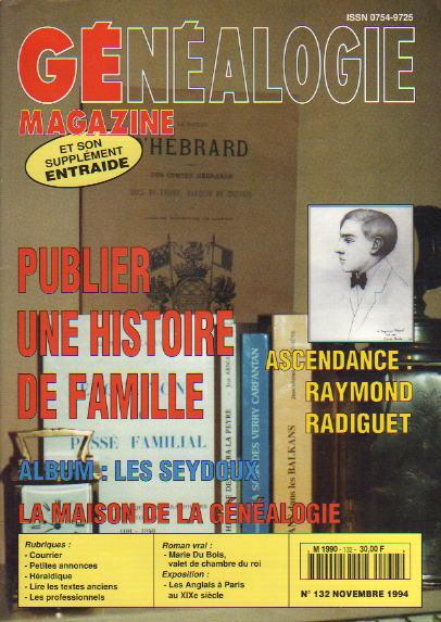 Généalogie Magazine n° 132 – novembre 1994