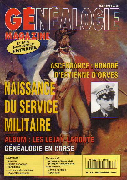 Généalogie Magazine n° 133 – décembre1994