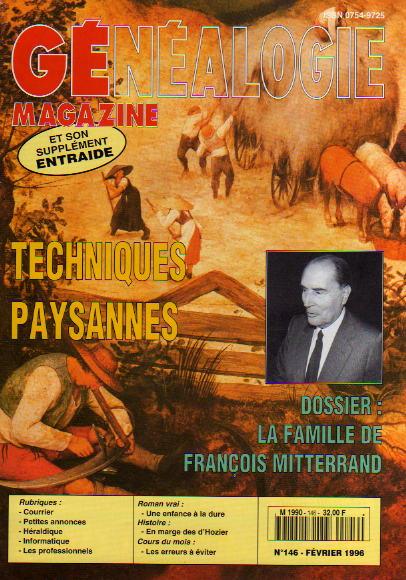 Généalogie Magazine n° 146 - février 1996