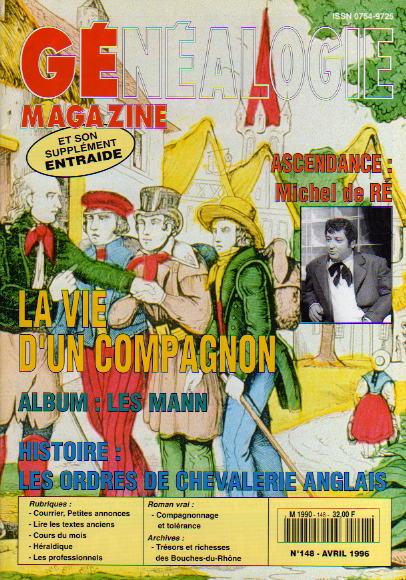 Généalogie Magazine n° 148 - avril 1996