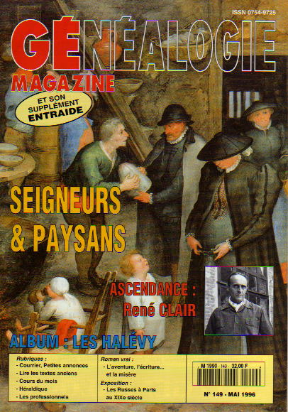 Généalogie Magazine n° 149 - mai 1996