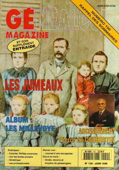 Généalogie Magazine n° 150 - juin 1996