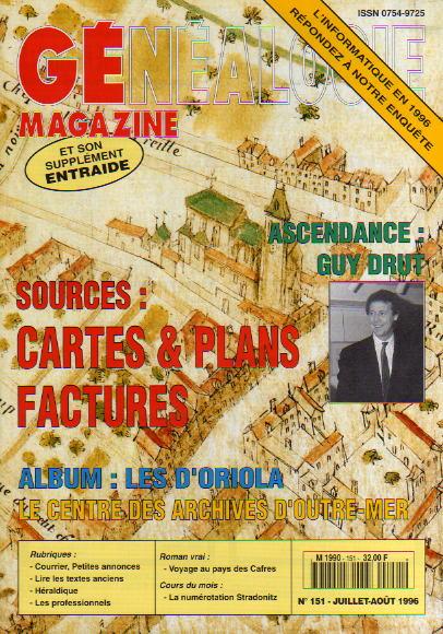 Généalogie Magazine n° 151 – juillet-août 1996