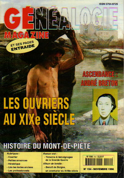 Généalogie Magazine n° 154 - novembre 1996