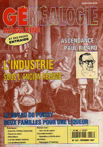 Généalogie Magazine n° 157 - février 1997