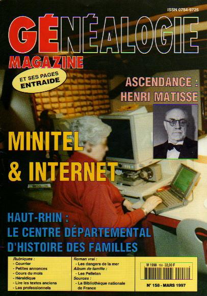 Généalogie Magazine n° 158 - mars 1997