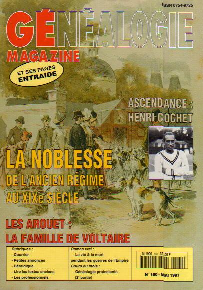 Généalogie Magazine n° 160 - mai 1997
