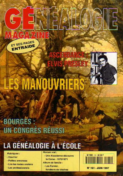 Généalogie Magazine n° 161 - juin 1997
