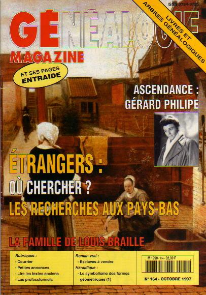 Généalogie Magazine n° 164 - octobre 1997