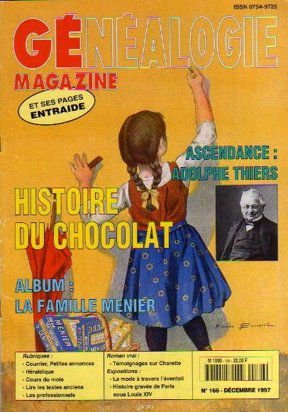 Généalogie Magazine n° 166 - décembre 1997