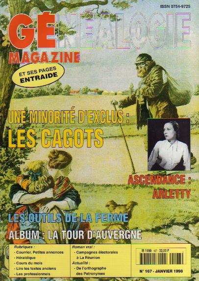 Généalogie Magazine n° 167 - janvier 1998