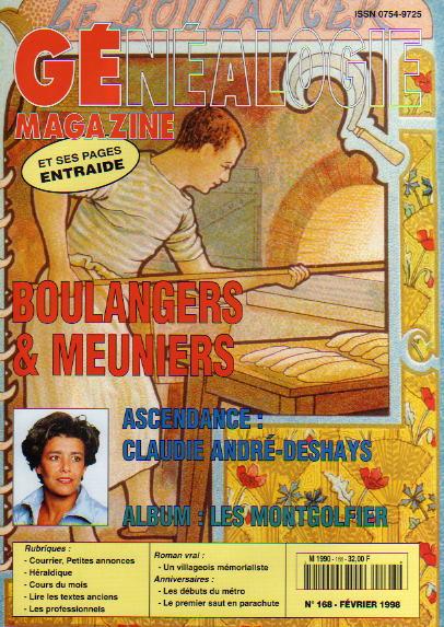 Généalogie Magazine n° 168 - février 1998