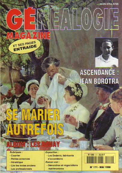 Généalogie Magazine n° 171 - mai 1998