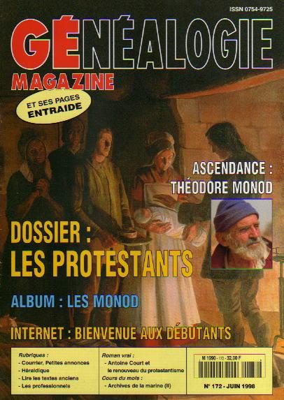 Généalogie Magazine n° 172 - juin 1998