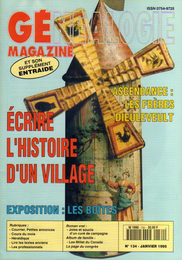 Généalogie Magazine n° 134 - janvier 1995