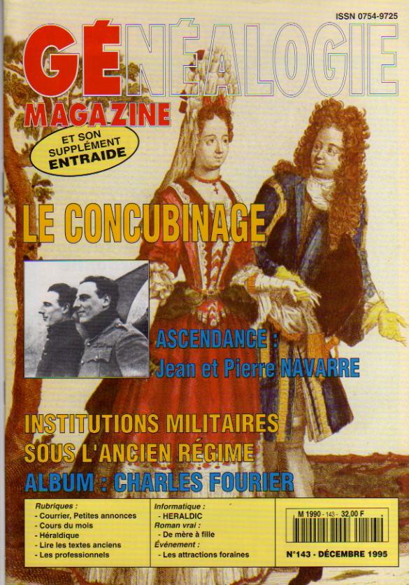 Généalogie Magazine n° 143 – novembre 1995