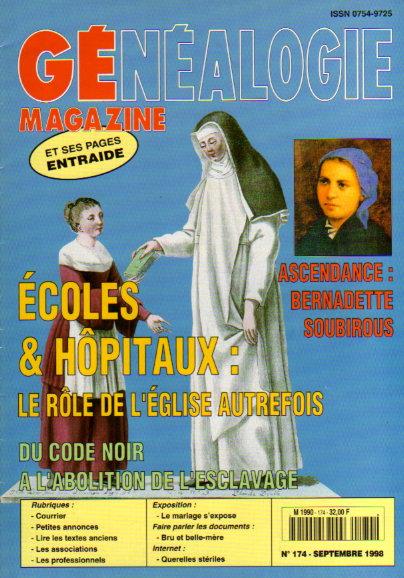 Généalogie Magazine n° 174 - septembre 1998