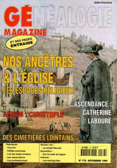 Généalogie Magazine n° 176 - novembre 1998