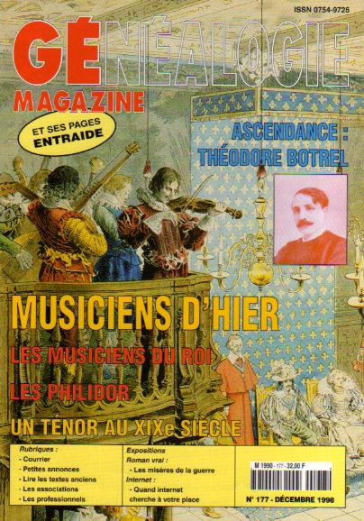 Généalogie Magazine n° 177 - décembre 1998