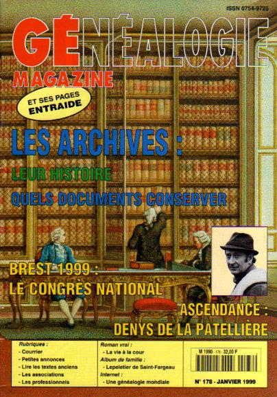 Généalogie Magazine n° 178 - janvier 1999