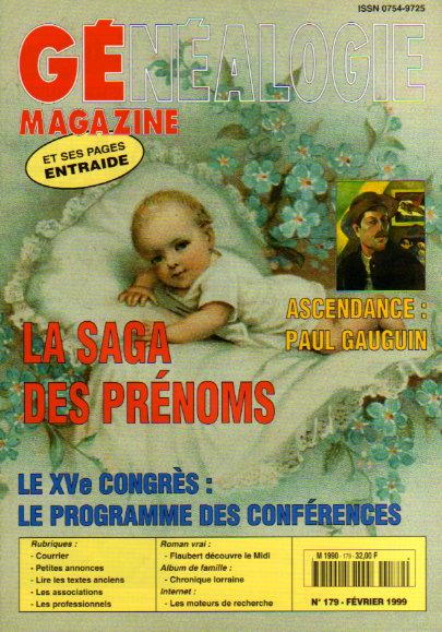 Généalogie Magazine n° 179 - février 1999