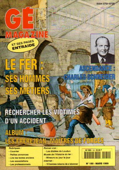 Généalogie Magazine n° 180 - mars 1999