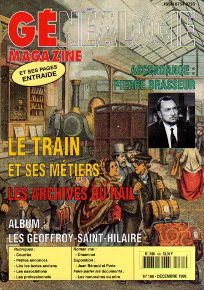 Généalogie Magazine n° 188 - décembre 1999