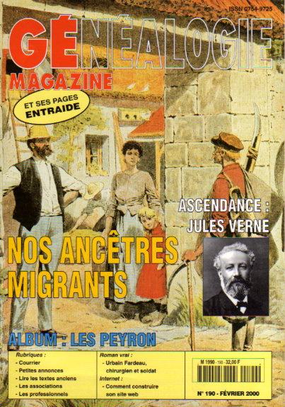 Généalogie Magazine n° 190 - février 2000