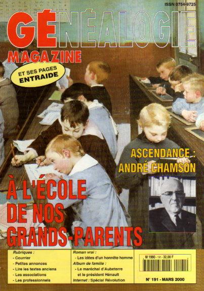 Généalogie Magazine n° 191 - mars 2000