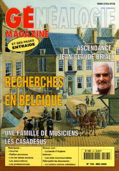 Généalogie Magazine n° 193 - mai 2000