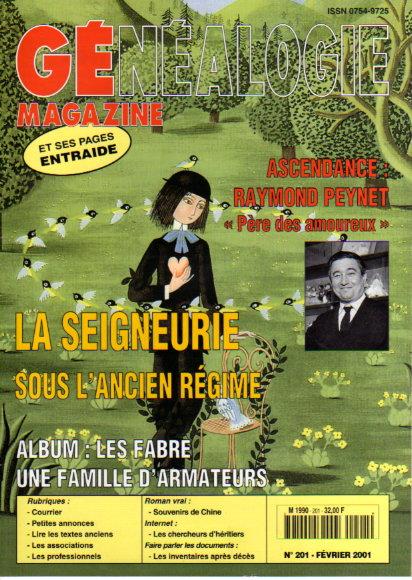 Généalogie Magazine n° 201 - février 2001