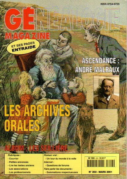 Généalogie Magazine n° 202 - mars 2001