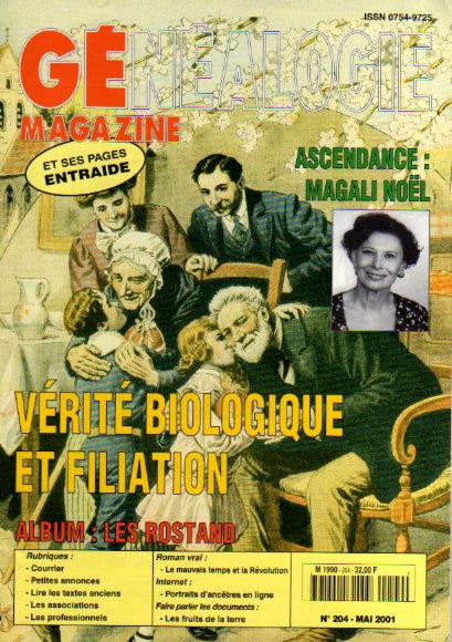Généalogie Magazine n° 204 - mai 2001