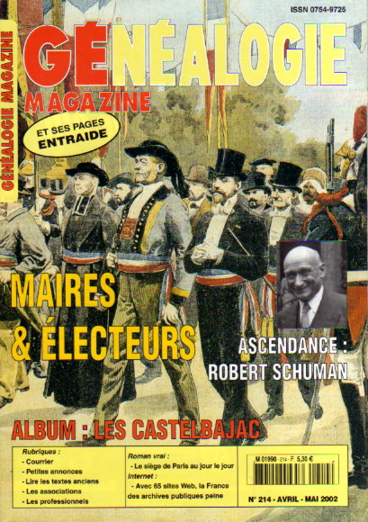 Généalogie magazine n° 214 - avril - mai 2002