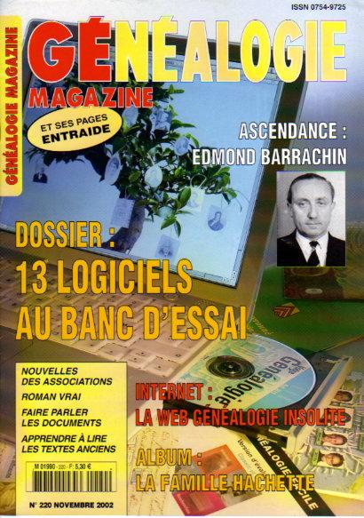 Généalogie Magazine n° 220 - novembre 2002