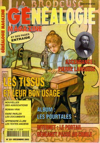 Généalogie Magazine n° 221 - décembre 2002