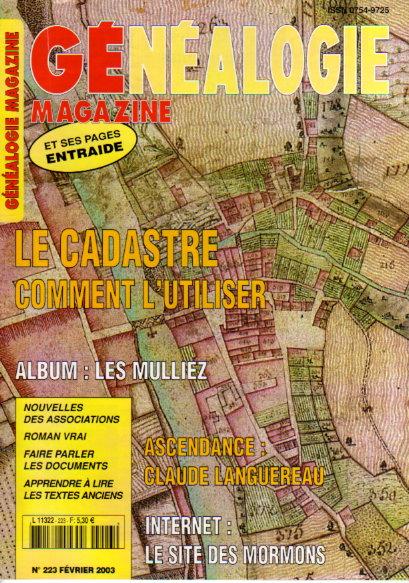 Généalogie Magazine n° 223 - février 2003