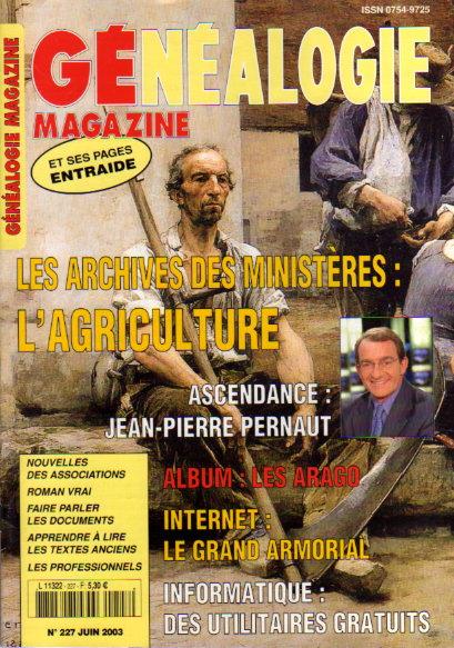 Généalogie Magazine n° 227 - juin 2003