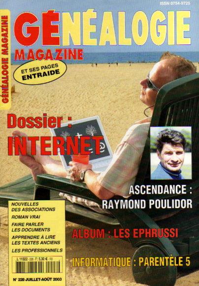 Généalogie Magazine n° 229 - juillet-août 2003
