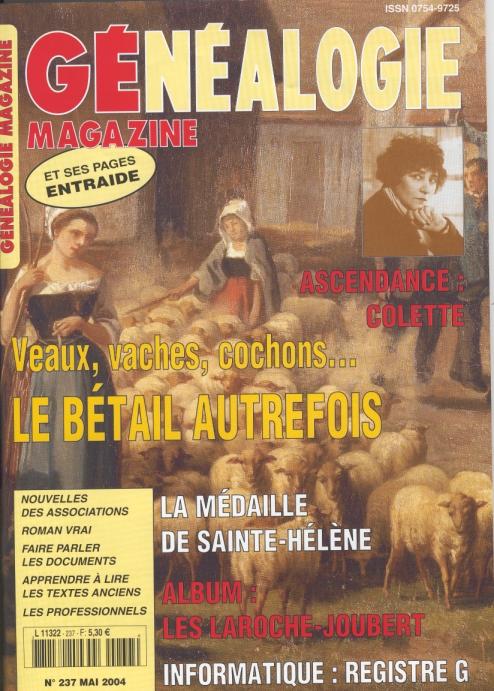 Généalogie Magazine n° 237 - mai 2004