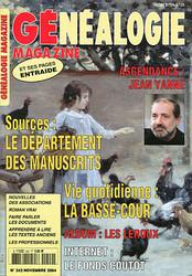 Généalogie Magazine N° 242 - Novembre 2004