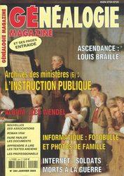 Généalogie Magazine N° 244 - Janvier 2005
