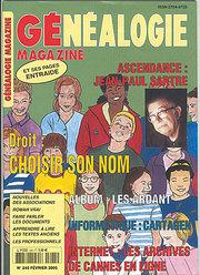 Généalogie Magazine N° 245 - Février 2005