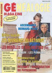 Généalogie Magazine N° 246 - Mars 2005