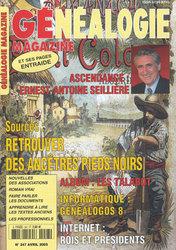 Généalogie Magazine N° 247 - Avril 2005
