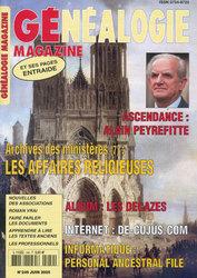Généalogie Magazine N° 249 - Juin 2005