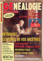 Généalogie Magazine N° 252 - Octobre 2005